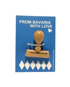 from bavaria with love stempel